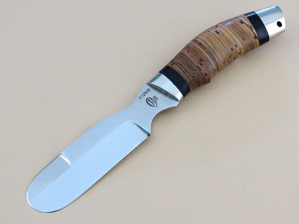 Шкуросъемный нож «АЛЯСКА» Х12МФ, береста, венге